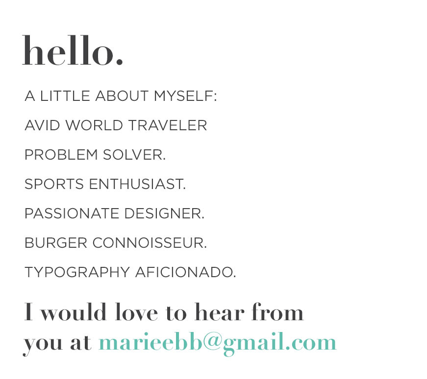 a little about myself marie eberwein